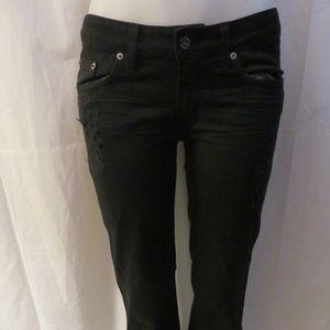 CARMAR BLACK STRAIGHT LEG JEANS 27